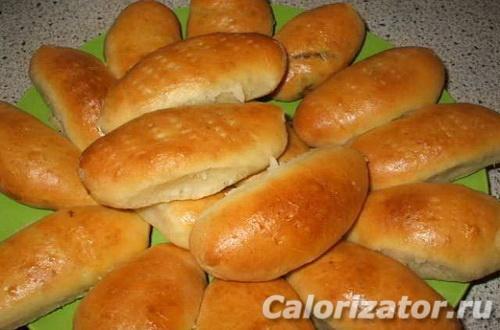 Пирожок с печенью калории