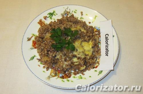 Гречка с сыром и зеленью - рецепт пошаговый с фото